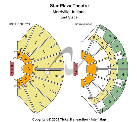 Star Plaza Theatre Seating Chart