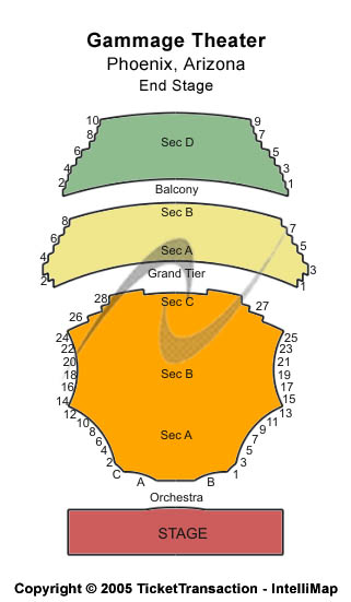 Gammage Auditorium Seating Chart