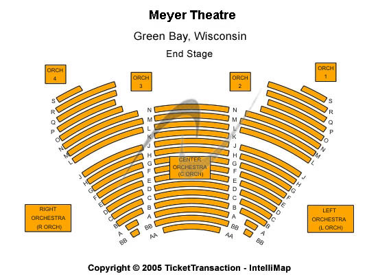 Meyer Theatre Seating Map