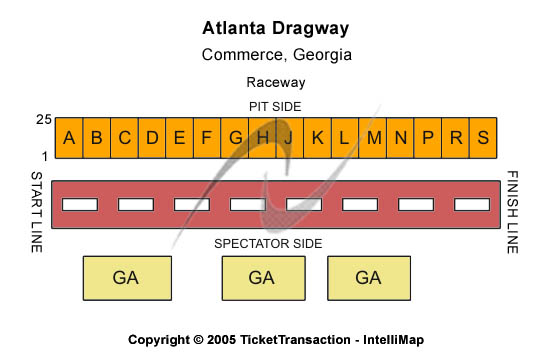Atlanta Dragway Seating Chart