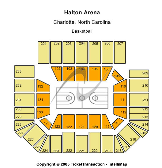 Halton Arena Seating Map
