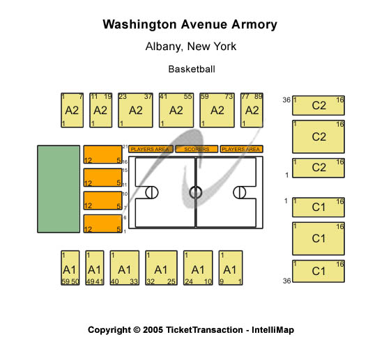 Washington Avenue Armory Seating Map