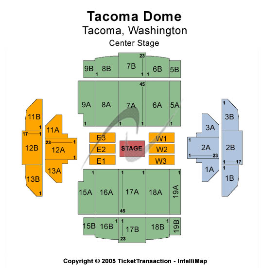 Tacoma Dome Seating Map