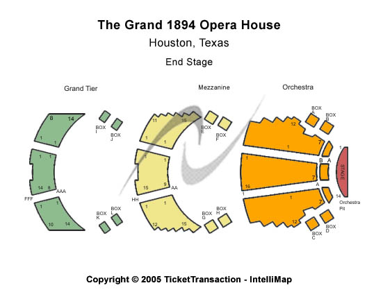 Grand 1894 Opera House Seating Map