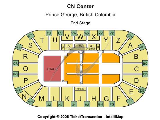 CN Centre Seating Map