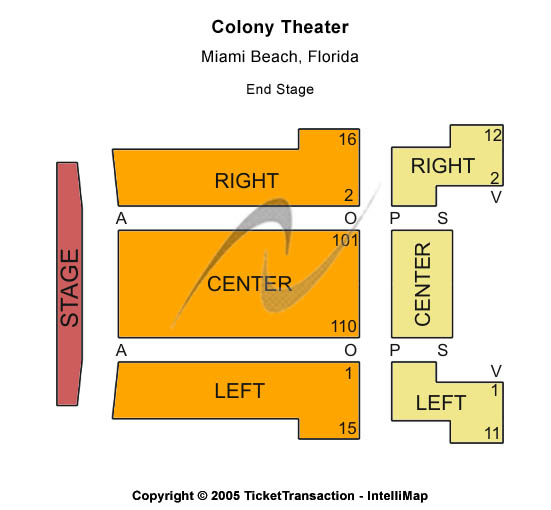 Colony Theatre Seating Chart