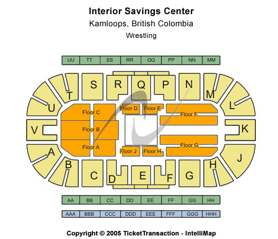Interior Savings Centre Seating Chart