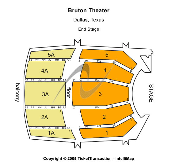 Bruton Theatre Seating Map