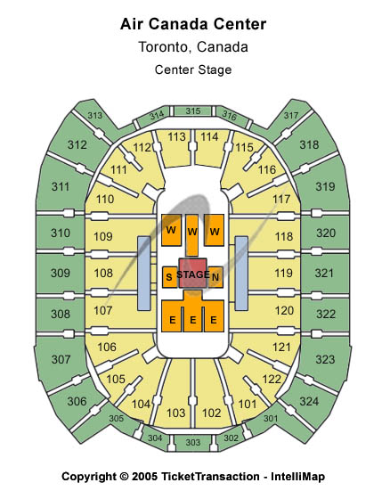 Air Canada Centre Seating Chart