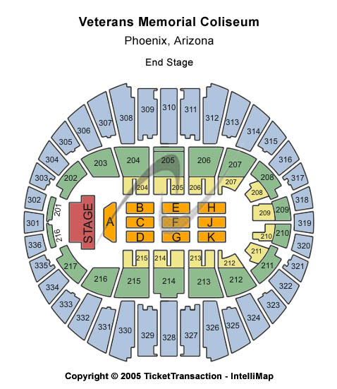Veterans Memorial Coliseum Seating Chart