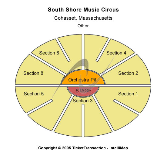 South Shore Music Circus Seating Map