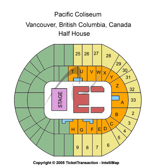 Pacific Coliseum Seating Chart