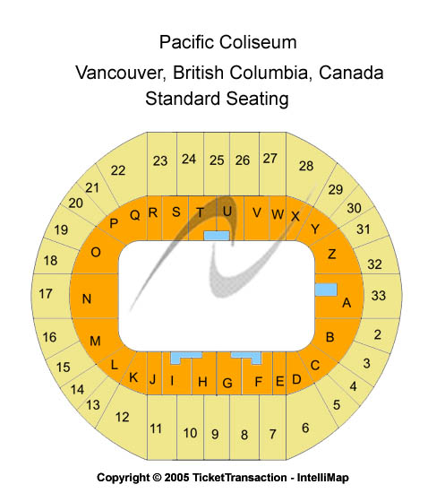 Pacific Coliseum Seating Map
