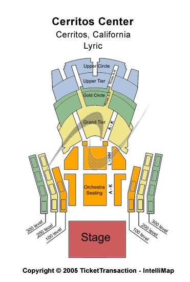 Cerritos Center Seating Chart