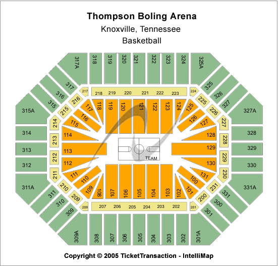 Thompson Boling Arena Seating Map