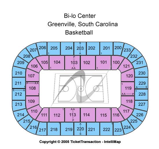 Bi-lo Center Seating Map