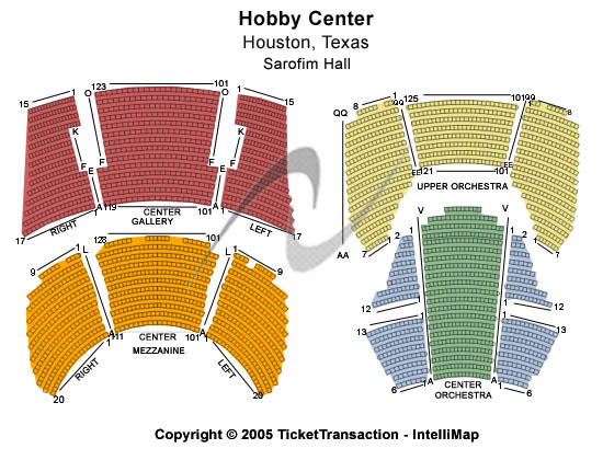 Sarofim Hall Seating Chart