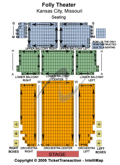 Folly Theater Seating Chart