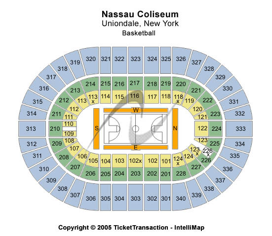 Nassau Coliseum Seating Chart: Basketball