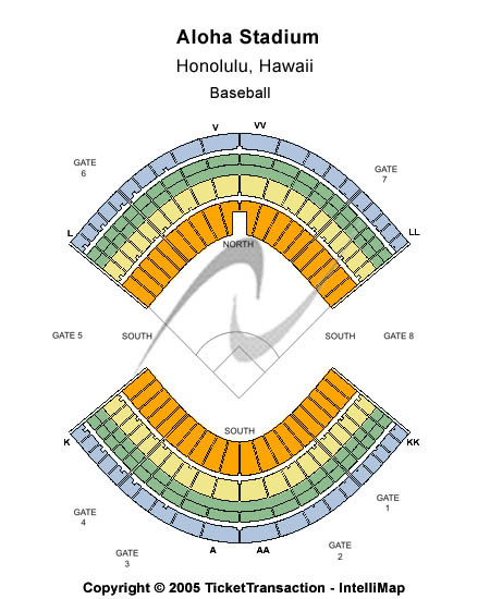 Aloha Stadium Seating Map