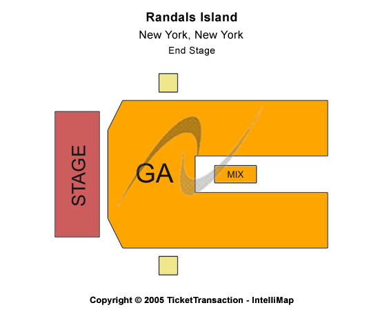 Randalls Island Seating Map