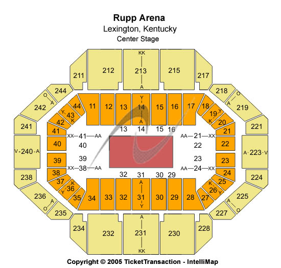 Rupp Arena Seating Map