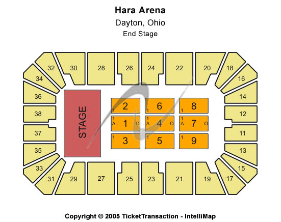 Hara Arena Seating Chart
