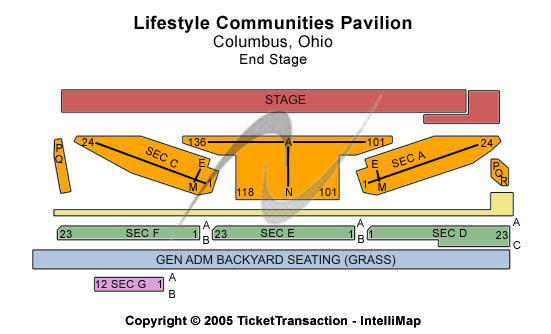 Lifestyles Communities Pavilion Seating Map