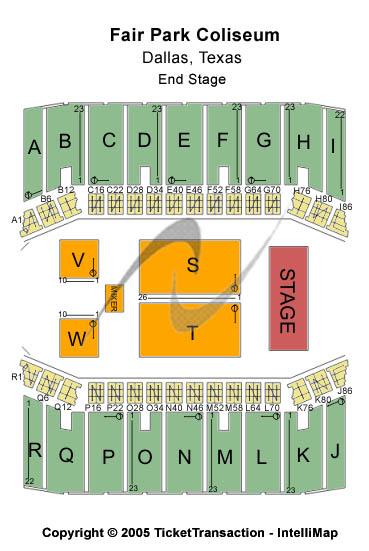 Fair Park Coliseum Seating Chart
