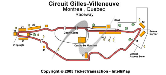 Circuit Gilles - Villeneuve Seating Map