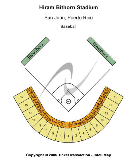 Hiram Bithorn Stadium Seating Map