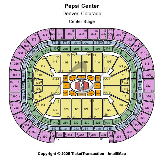 Pepsi Center - Denver seating chart - Click here to buy Denver George Strait Tickets