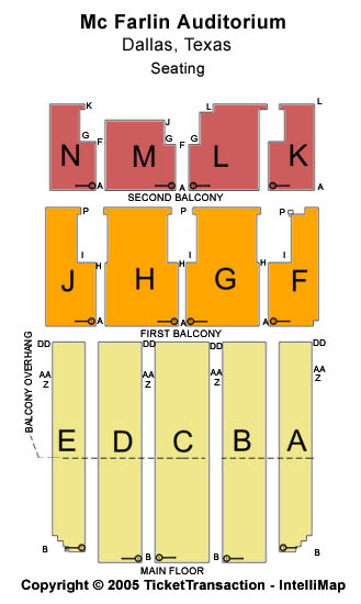 Mcfarlin Auditorium Seating Map