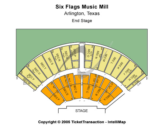 Six Flags Music Mill Seating Chart