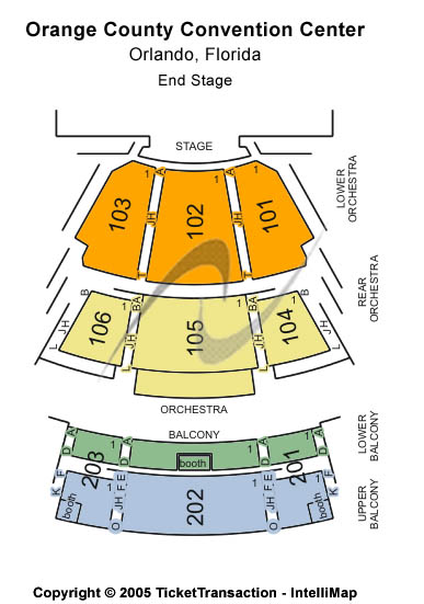 Orange County Convention Center Seating Chart