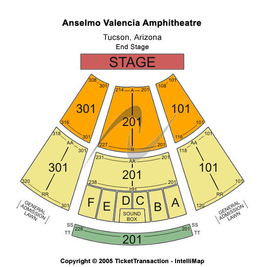 Anselmo Valencia Tori Amphitheatre Seating Chart