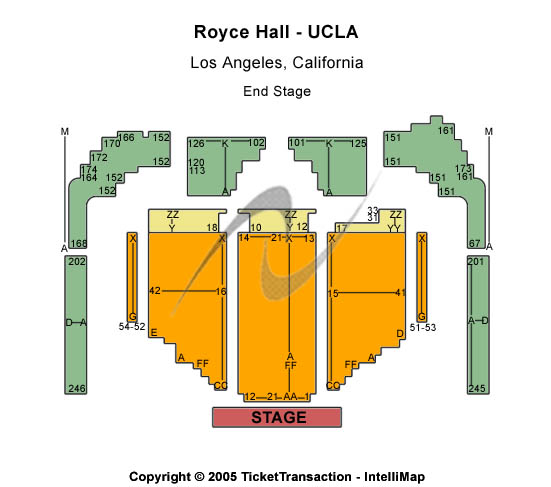 Royce Hall-UCLA Seating Map