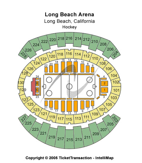 Long Beach Arena - Long Beach Convention Center Seating Map