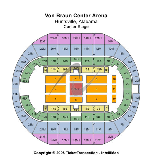 Von Braun Center Arena Seating Map