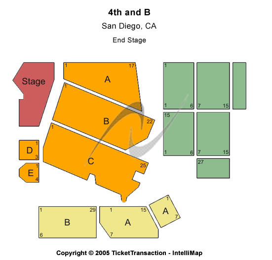 Avalon Seating Chart