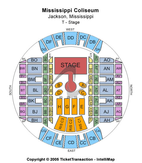 Mississippi Coliseum Seating Chart