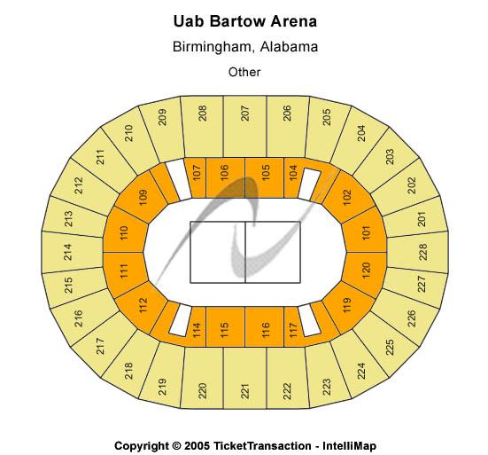 UAB Bartow Arena Seating Chart