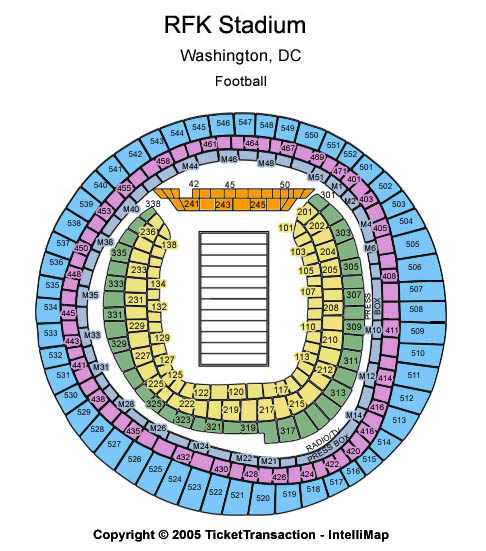 Rfk Stadium Seating Map