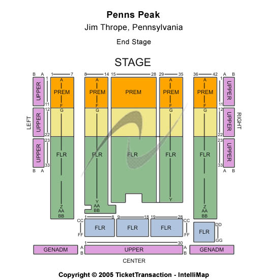 Penns Peak Seating Map