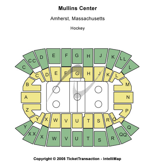Mullins Center Seating Chart