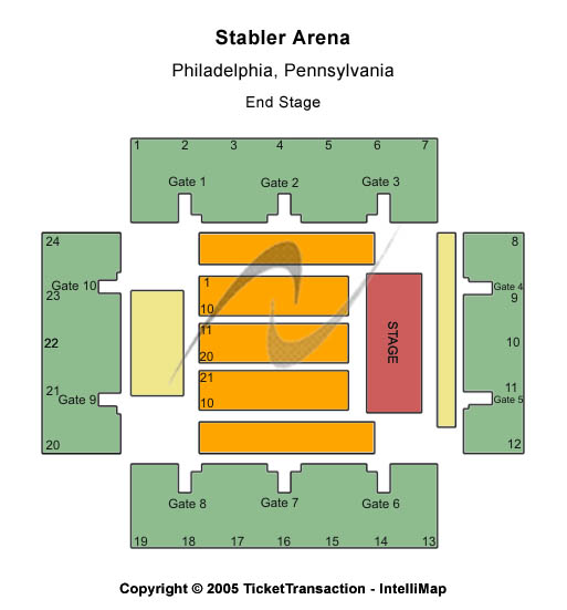 Stabler Arena Seating Chart