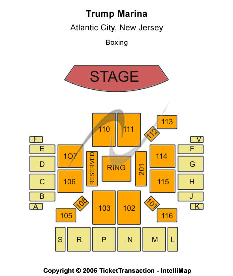Trump Marina Seating Map