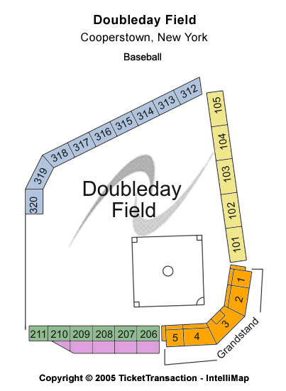 Doubleday Field Seating Chart
