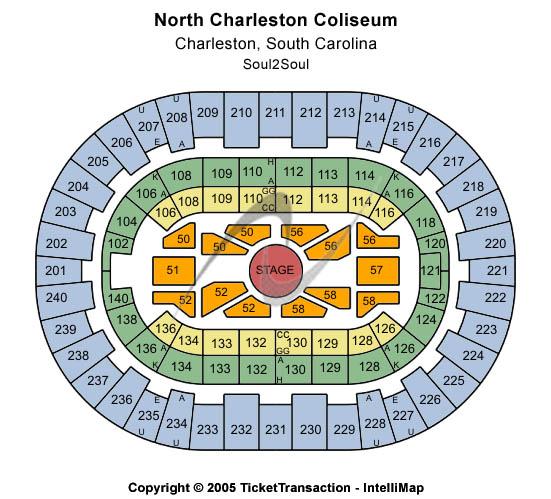 North Charleston Coliseum Soul2Soul