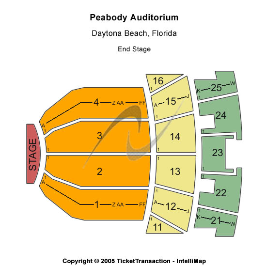 Peabody Auditorium Seating Chart